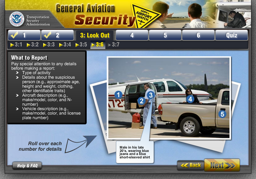 General Aviation Security - Course Section