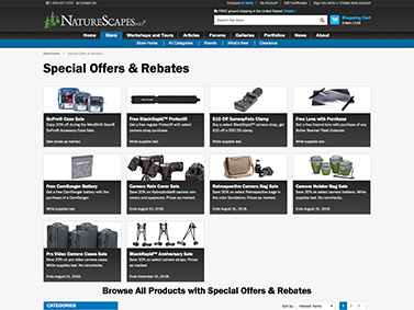 NatureScapes Store Special Offers Landing Page