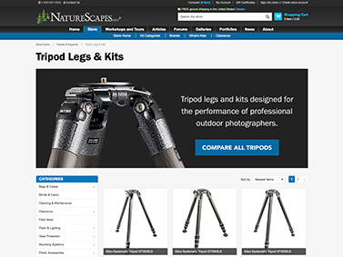 NatureScapes Store Subcategory Landing Page