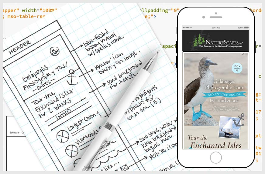 Email Wireframing and Sketching
